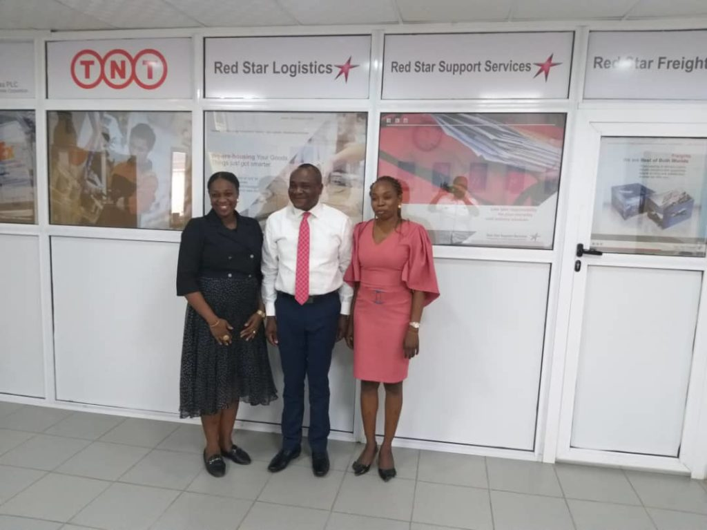 (Left to right) Ediri Ose-Ediale; ADVAN Executive Secretary, Victor Ukwat; Executive Director Sales & Marketing Red Star Express Plc and Adeola Ogunlabi; Marketing Coordinator Red Star Express Plc