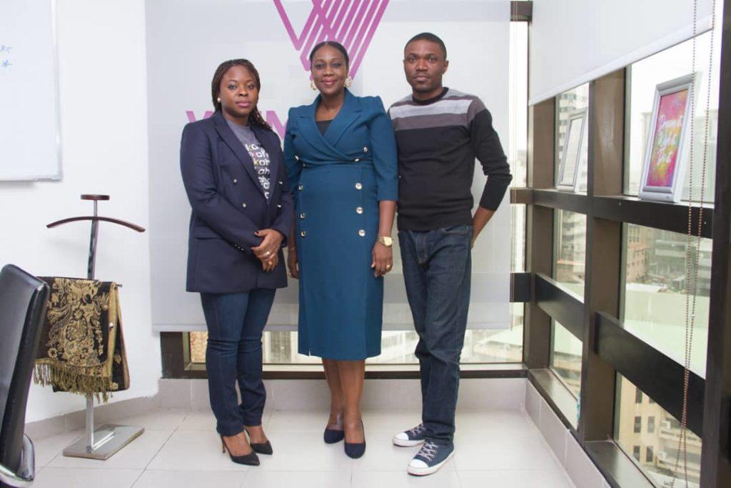 (From Left to right): Funmilayo Falola; Head Brand and Marketing Communication Wema Bank, Ediri Ose-Ediale; ADVAN Executive Secretary and Samuel Omotayo, Team Lead Brand Experience & Digital Marketing Wema Bank.