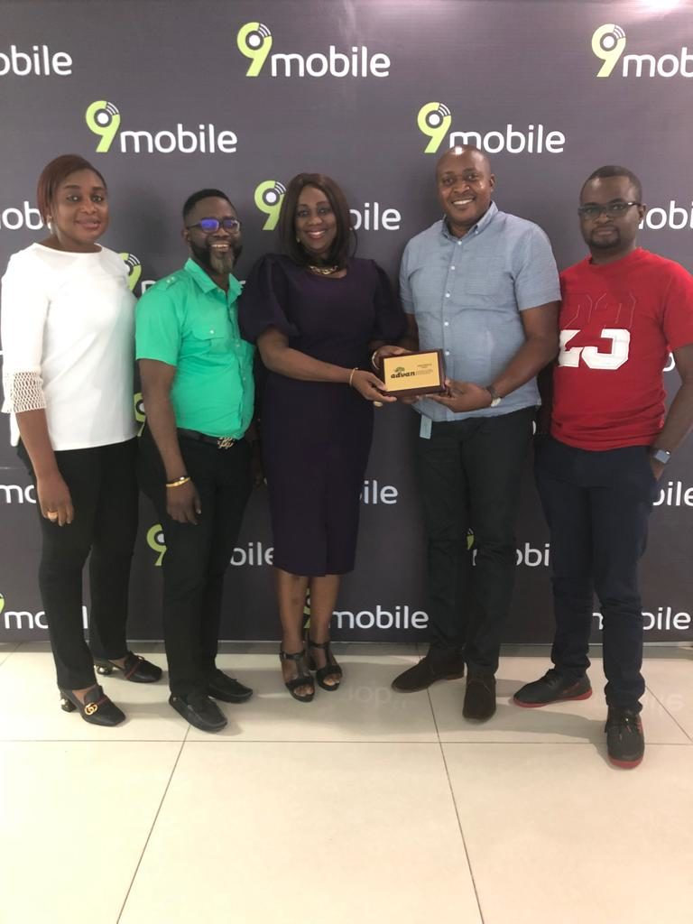Picture Two (From Left to Right): Modupe Thani; Head, Events, Sponsorships and Customer Experience, 9Mobile Nigeria. Gerald Osugo; Head, Media Planning/Management, 9Mobile Nigeria, Mrs Ediri Ose-Ediale, Executive Secretary ADVAN, Elvis Ogiemwanye; Director Brand/Experience 9Mobile Nigeria and Seni Ogunkola; Head Marketing/Communications 9Mobile Nigeria.